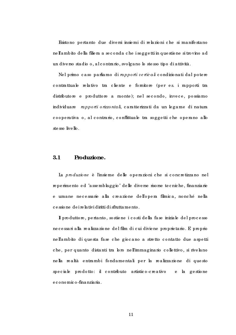 Anteprima della tesi: Problematiche gestionali delle imprese di produzione cinematografica, Pagina 15
