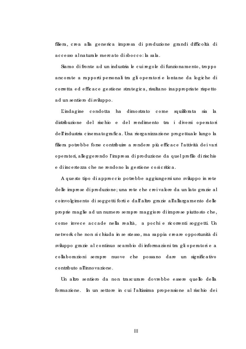 Anteprima della tesi: Problematiche gestionali delle imprese di produzione cinematografica, Pagina 3