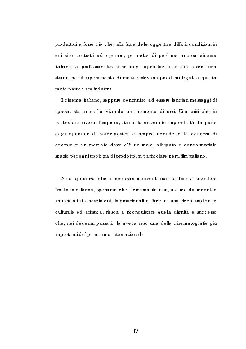 Anteprima della tesi: Problematiche gestionali delle imprese di produzione cinematografica, Pagina 4