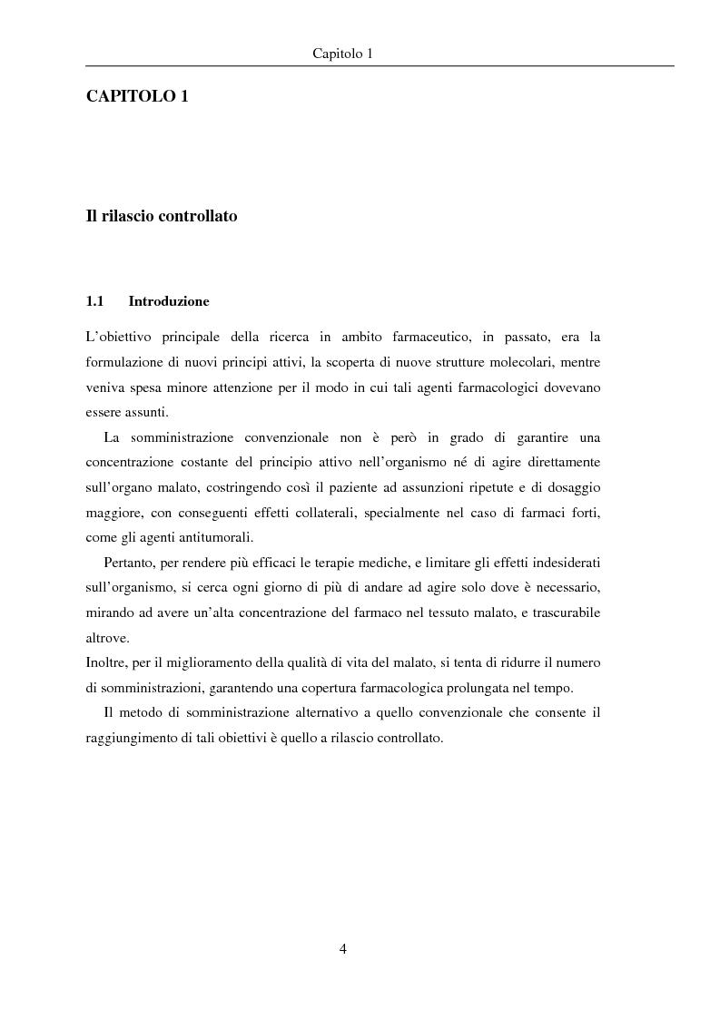Anteprima della tesi: Fenomeni di trasporto in carrier farmaceutici, Pagina 4