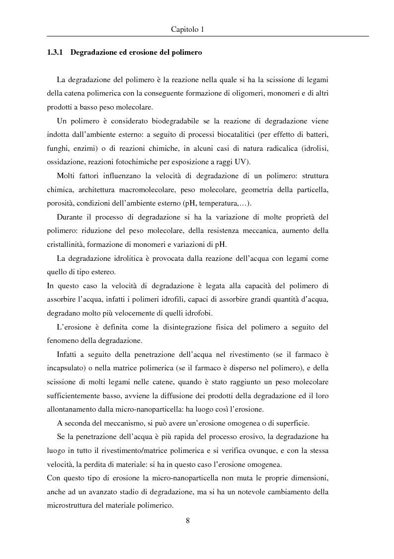 Anteprima della tesi: Fenomeni di trasporto in carrier farmaceutici, Pagina 8