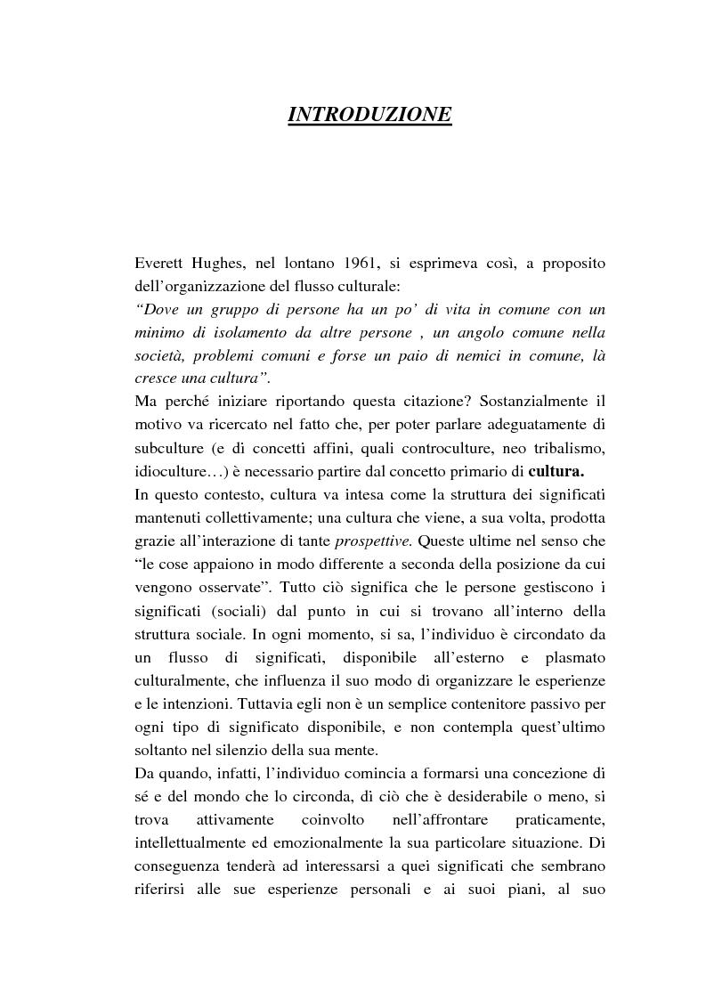 Anteprima della tesi: Dalle subculture alle idioculture, Pagina 1