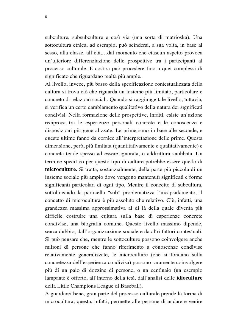 Anteprima della tesi: Dalle subculture alle idioculture, Pagina 5