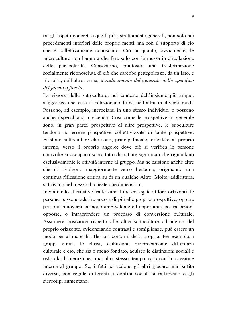 Anteprima della tesi: Dalle subculture alle idioculture, Pagina 6