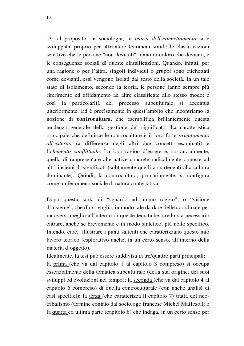 Anteprima della tesi: Dalle subculture alle idioculture, Pagina 7