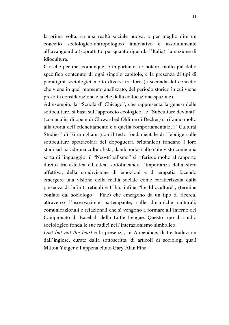 Anteprima della tesi: Dalle subculture alle idioculture, Pagina 8