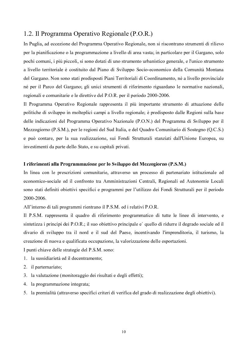 Anteprima della tesi: La Montagna del Sole: proposte per la destagionalizzazione del turismo e la valorizzazione del promontorio del Gargano, Pagina 10