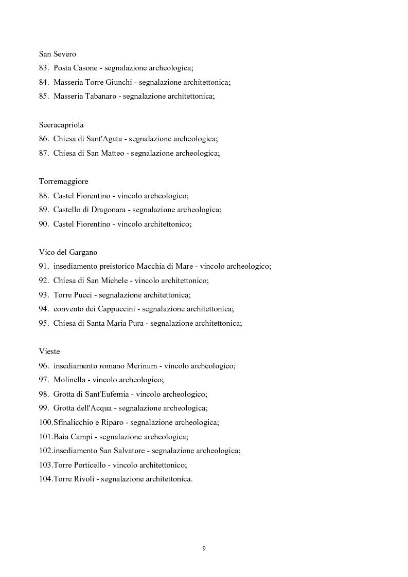 Anteprima della tesi: La Montagna del Sole: proposte per la destagionalizzazione del turismo e la valorizzazione del promontorio del Gargano, Pagina 9