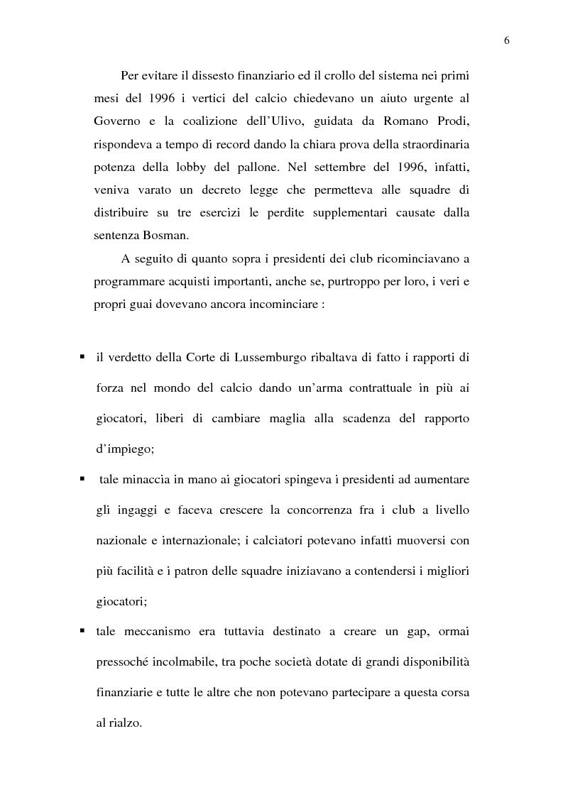 Anteprima della tesi: La crisi del calcio italiano: dal caso Lentini al decreto salva-calcio, Pagina 10
