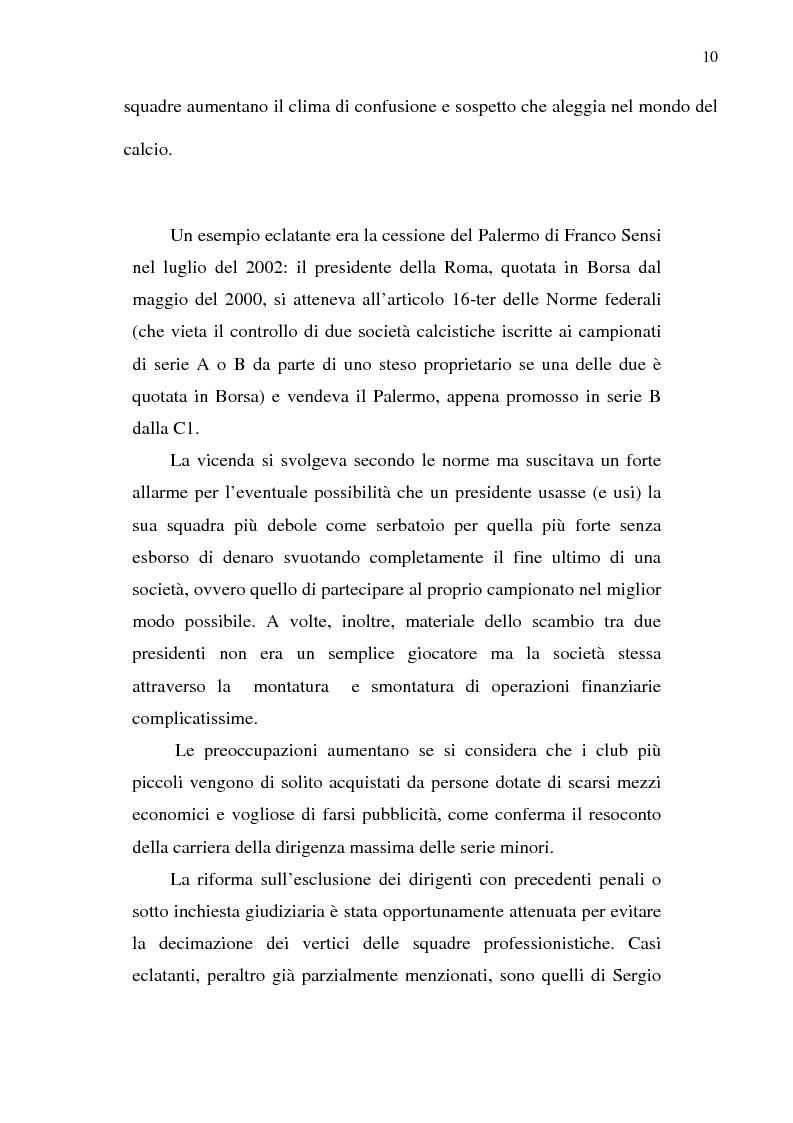 Anteprima della tesi: La crisi del calcio italiano: dal caso Lentini al decreto salva-calcio, Pagina 14
