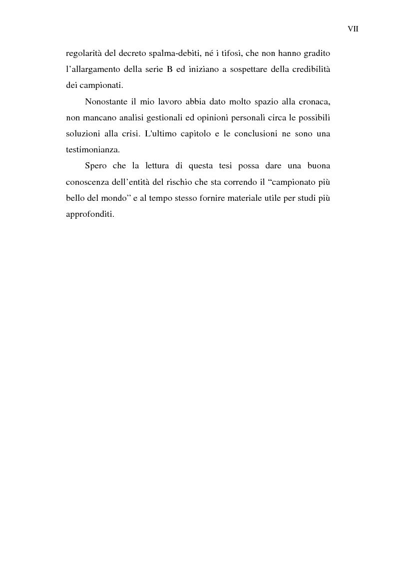Anteprima della tesi: La crisi del calcio italiano: dal caso Lentini al decreto salva-calcio, Pagina 4