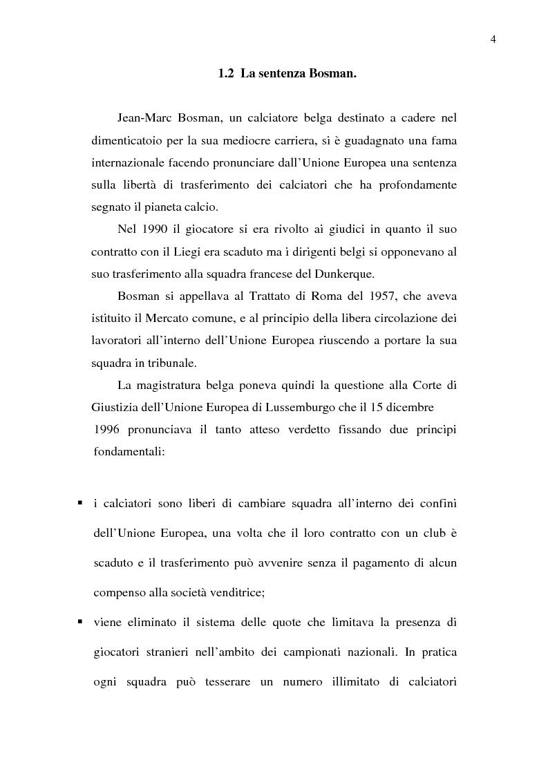 Anteprima della tesi: La crisi del calcio italiano: dal caso Lentini al decreto salva-calcio, Pagina 8