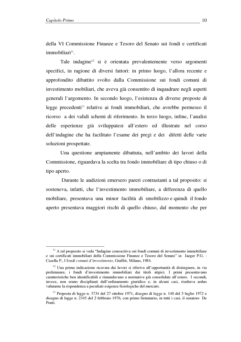 Anteprima della tesi: I fondi comuni di investimento immobiliari, Pagina 10