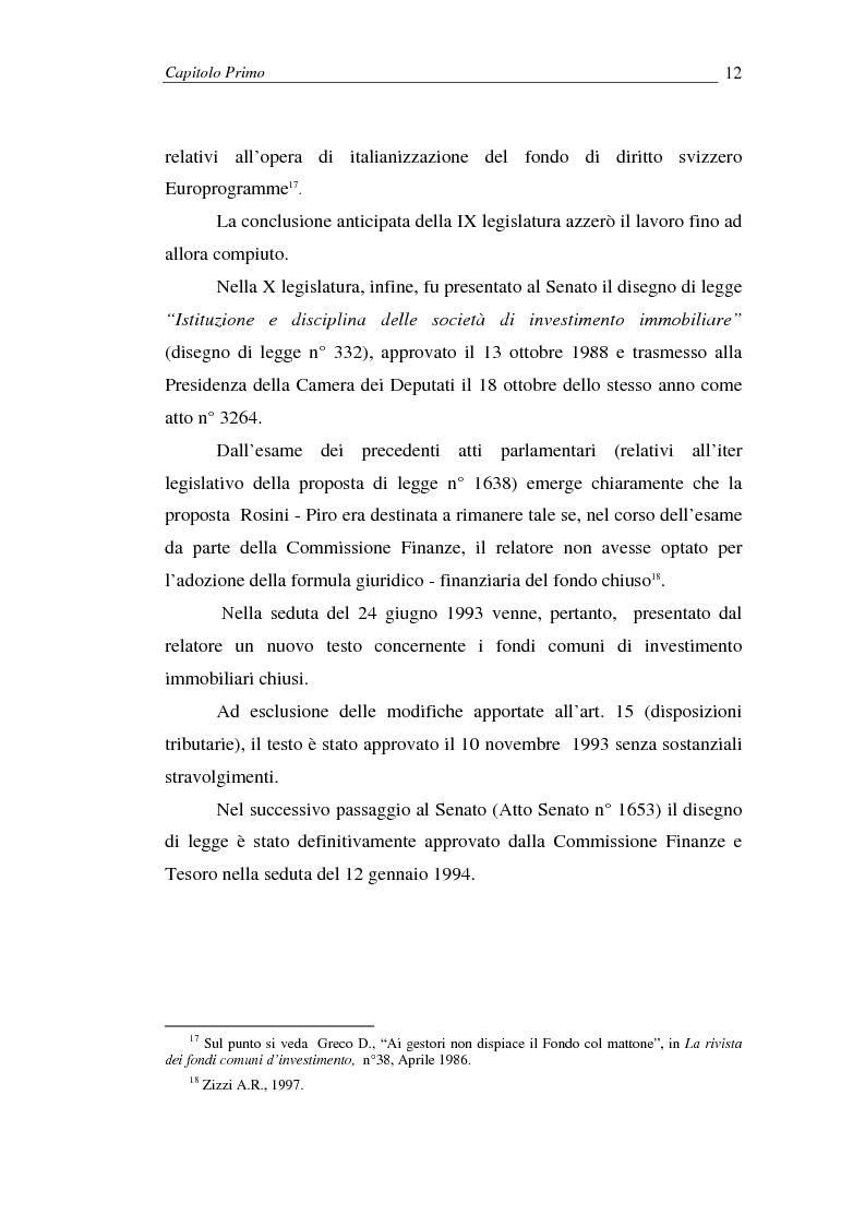Anteprima della tesi: I fondi comuni di investimento immobiliari, Pagina 12