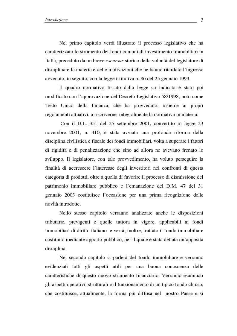Anteprima della tesi: I fondi comuni di investimento immobiliari, Pagina 3