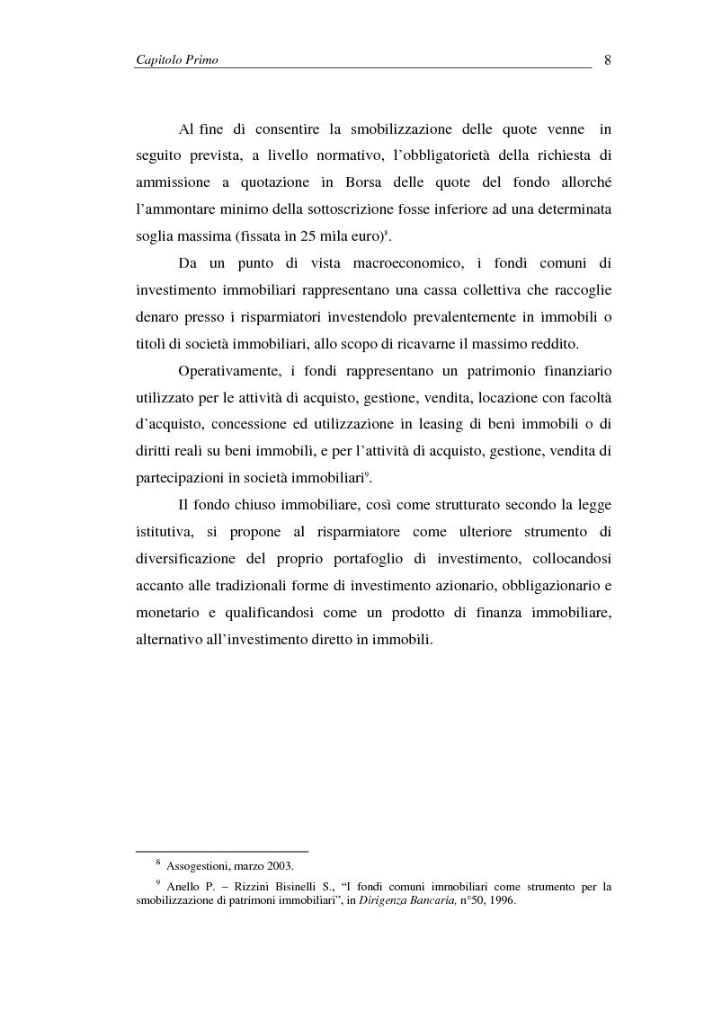 Anteprima della tesi: I fondi comuni di investimento immobiliari, Pagina 8