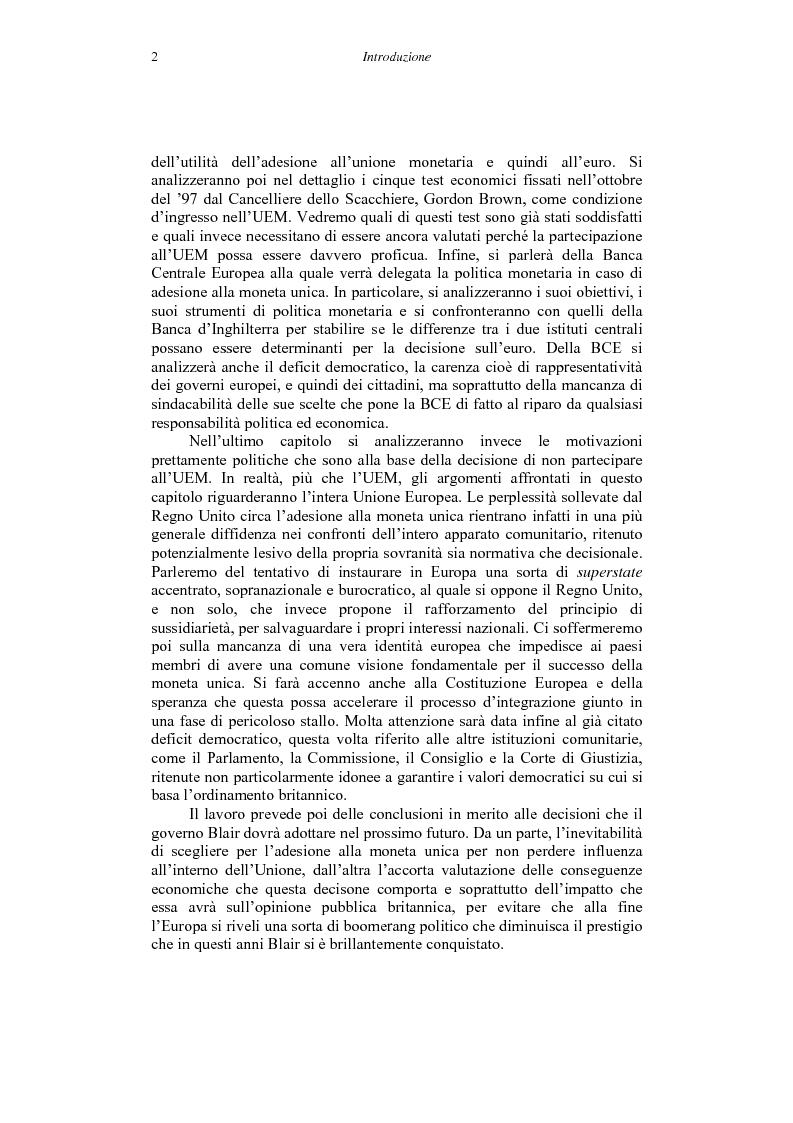Anteprima della tesi: Il ''no'' del Regno Unito all'euro, Pagina 2