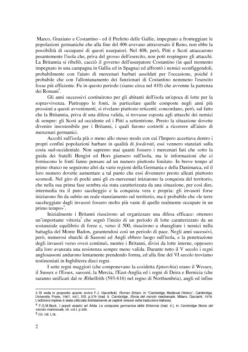 Anteprima della tesi: L'antica storia celtica della Britannia nelle fonti latine dell'Inghilterra fino a Goffredo di Monmouth, Pagina 7