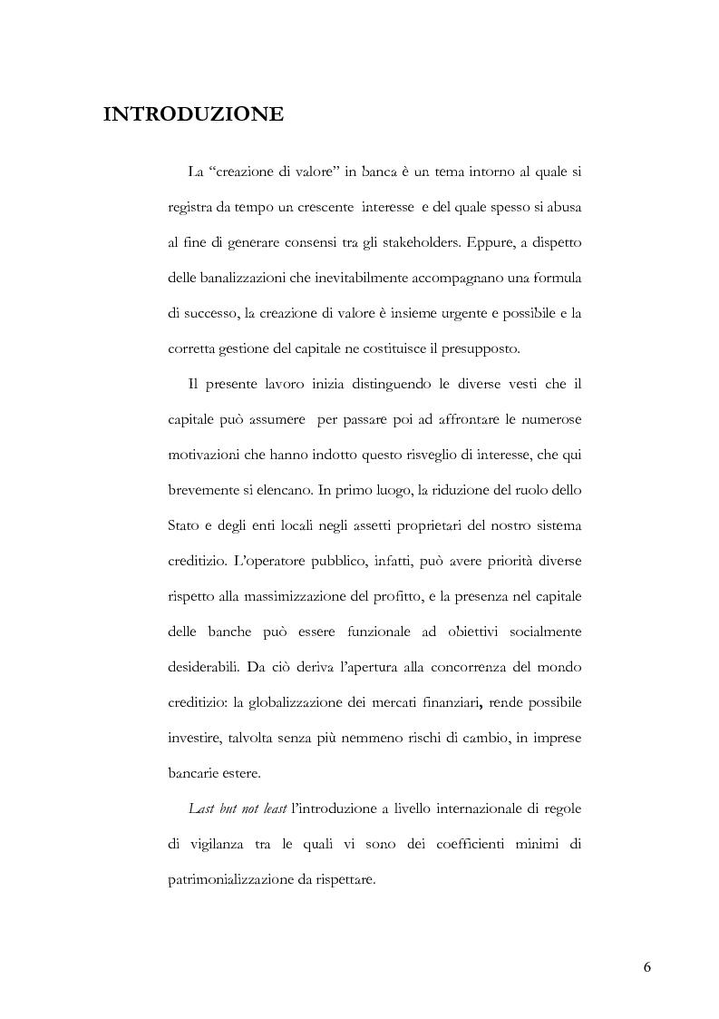 Anteprima della tesi: La gestione del capitale come mezzo per la creazione di valore per gli azionisti, Pagina 1