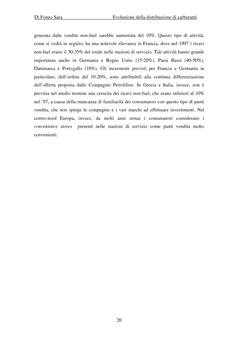 Anteprima della tesi: Evoluzione della distribuzione di carburanti, Pagina 14