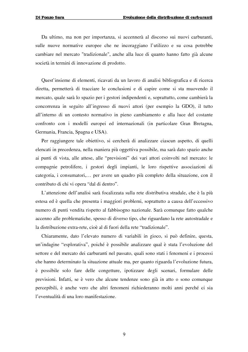 Anteprima della tesi: Evoluzione della distribuzione di carburanti, Pagina 3