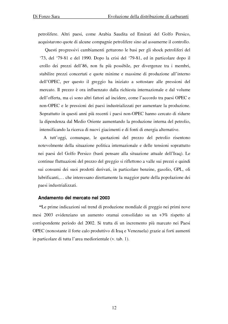 Anteprima della tesi: Evoluzione della distribuzione di carburanti, Pagina 6