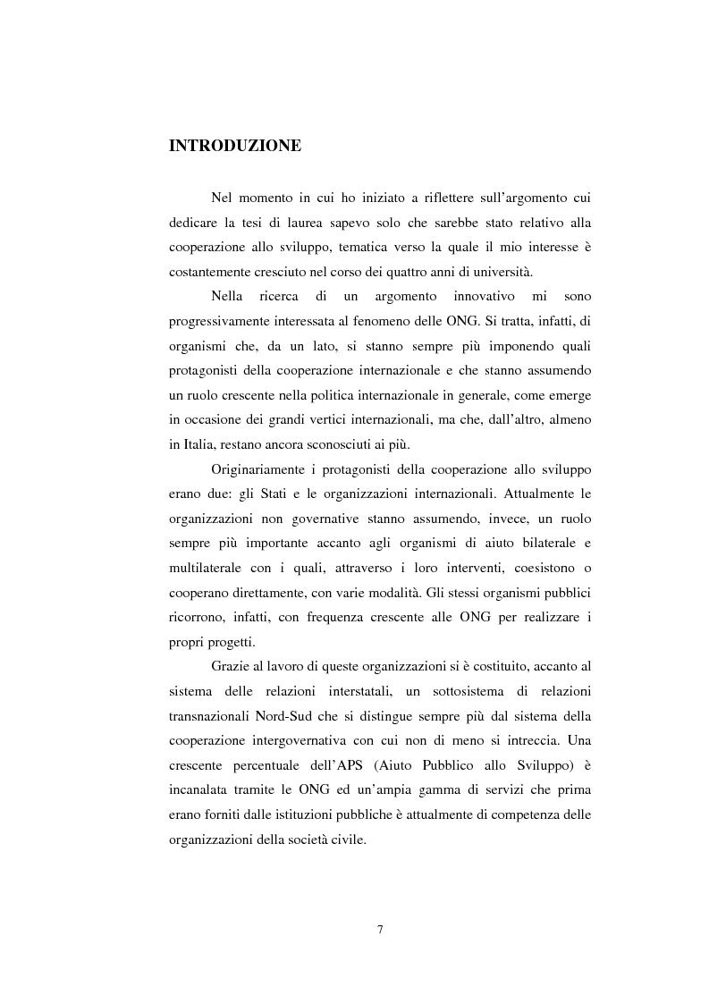 Anteprima della tesi: Le organizzazioni non governative, le organizzazioni internazionali e la cooperazione allo sviluppo, Pagina 1