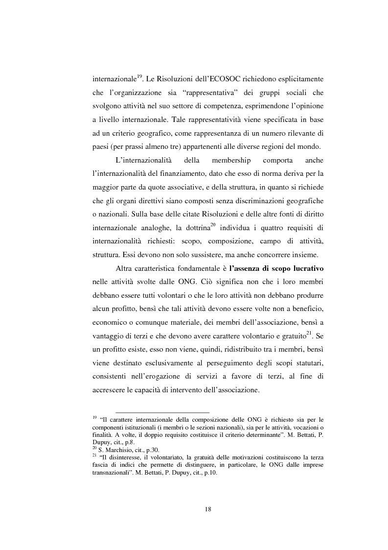 Anteprima della tesi: Le organizzazioni non governative, le organizzazioni internazionali e la cooperazione allo sviluppo, Pagina 12