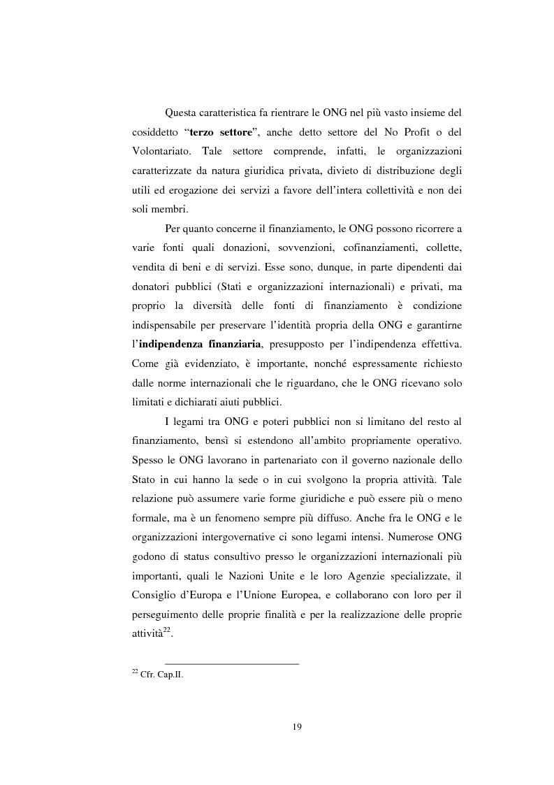 Anteprima della tesi: Le organizzazioni non governative, le organizzazioni internazionali e la cooperazione allo sviluppo, Pagina 13