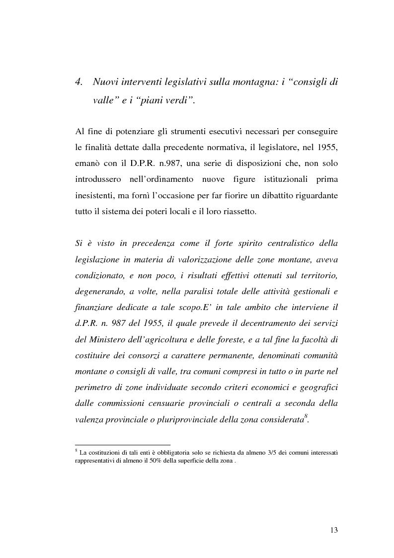 Anteprima della tesi: Le comunità montane: esperienze e prospettive, Pagina 13