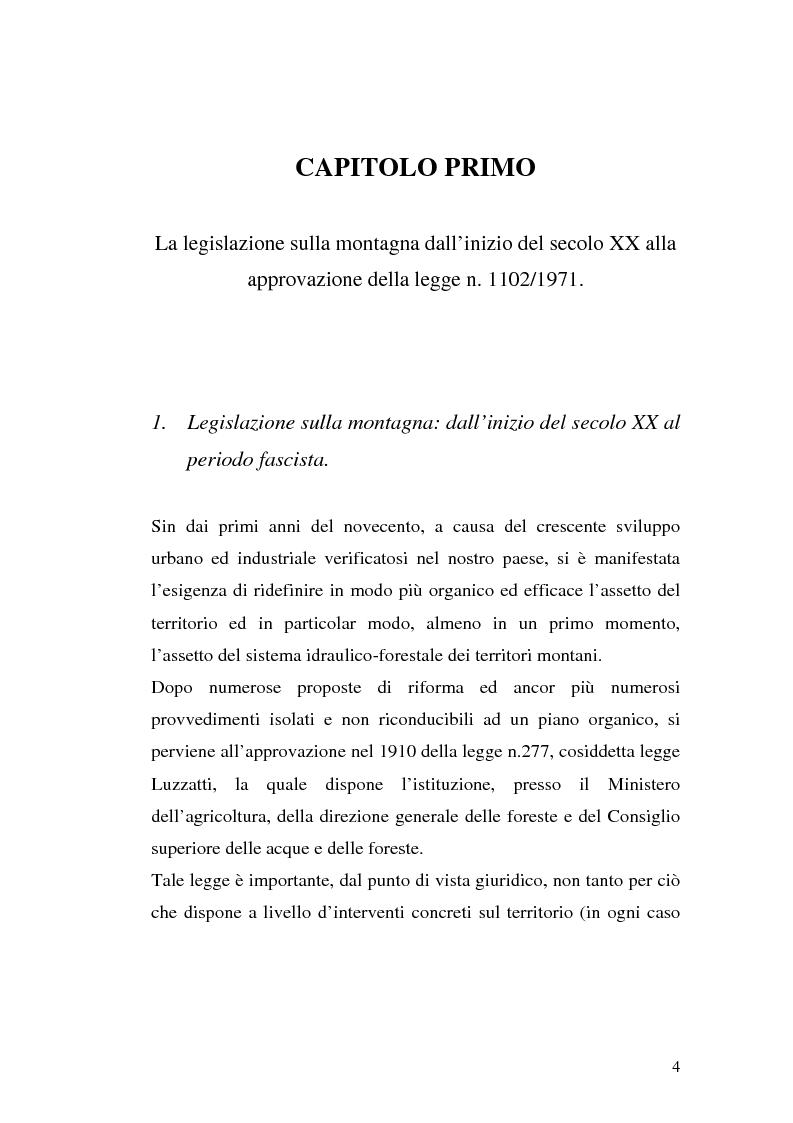 Anteprima della tesi: Le comunità montane: esperienze e prospettive, Pagina 4