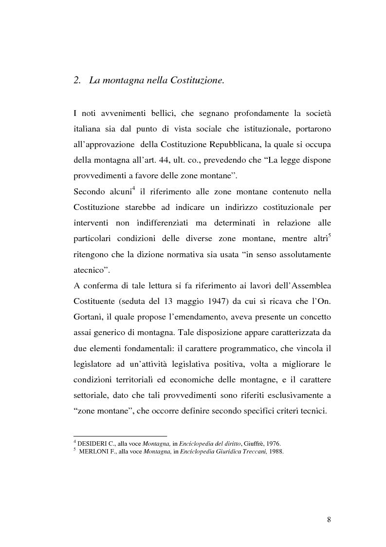 Anteprima della tesi: Le comunità montane: esperienze e prospettive, Pagina 8