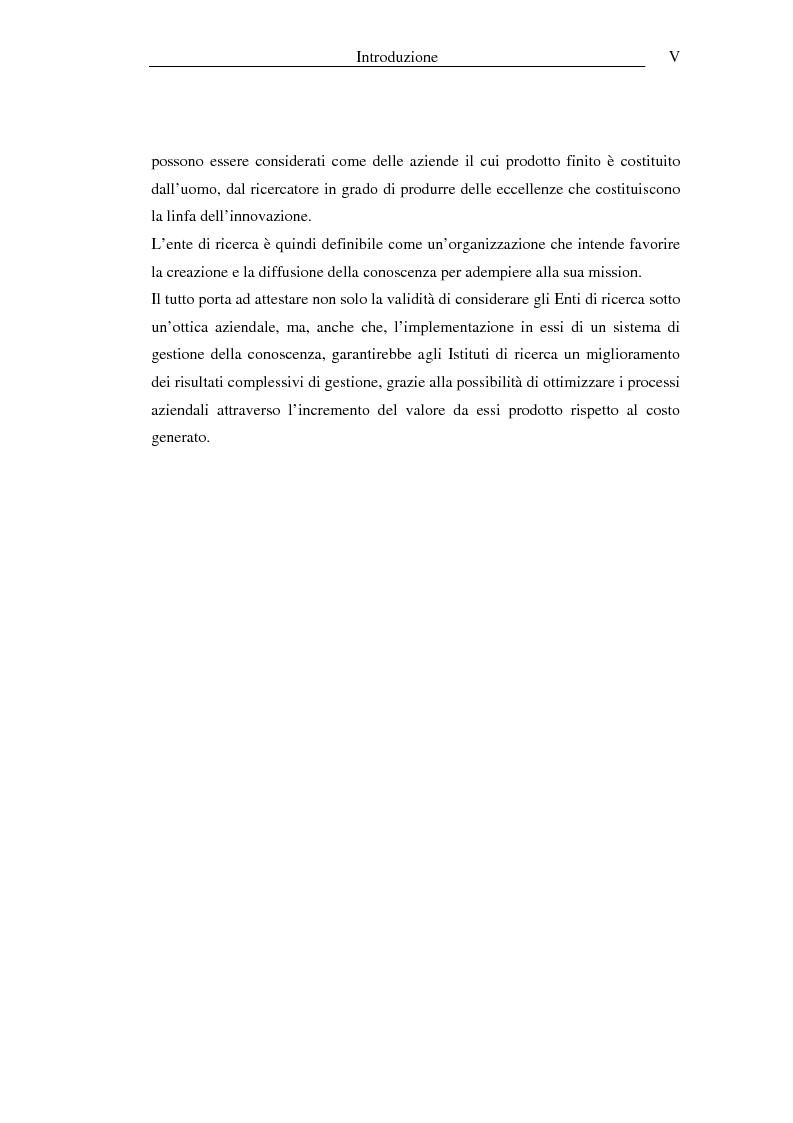 Anteprima della tesi: I sistemi informativi a supporto della gestione della conoscenza negli enti di ricerca: il caso ENEA, Pagina 5