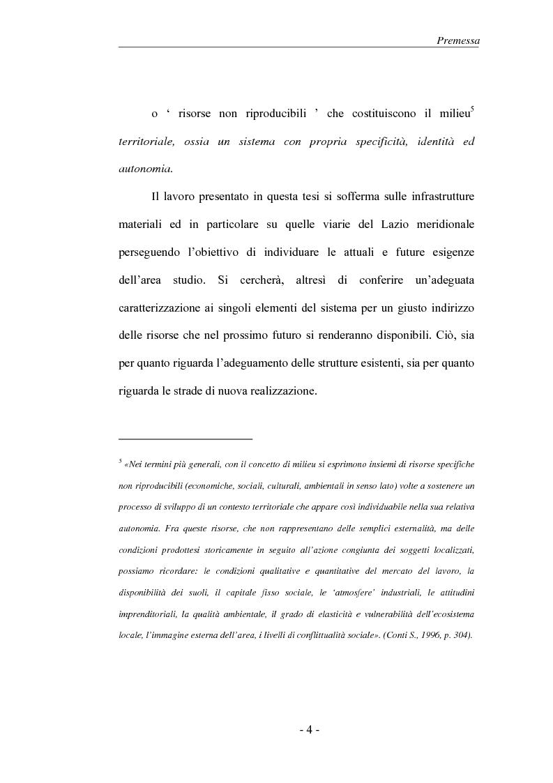 Anteprima della tesi: Il Sistema infrastrutturale del Lazio meridionale, Pagina 4