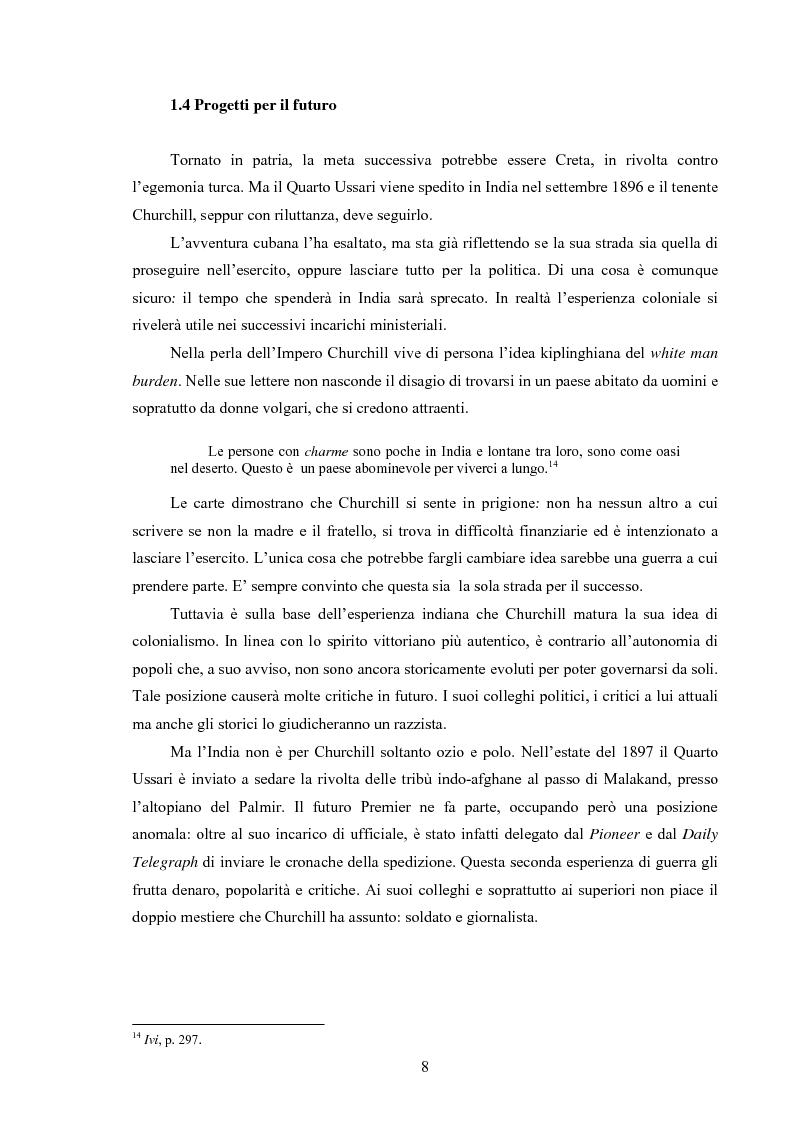 Anteprima della tesi: Winston S. Churchill: ritratto in chiaroscuro. La carriera politica attraverso la storiografia critica, Pagina 11