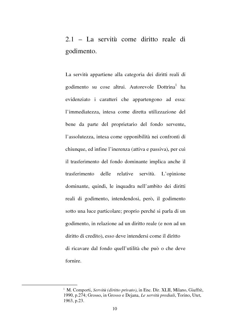 Anteprima della tesi: Le servitù atipiche, Pagina 11