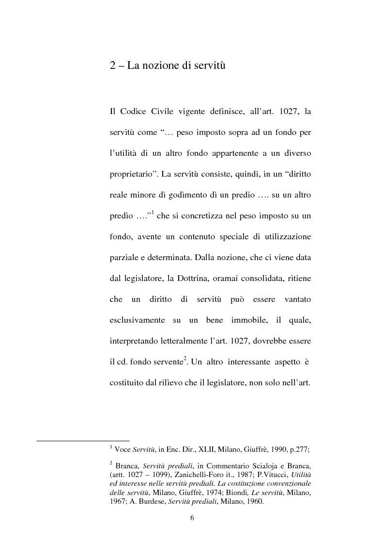 Anteprima della tesi: Le servitù atipiche, Pagina 7
