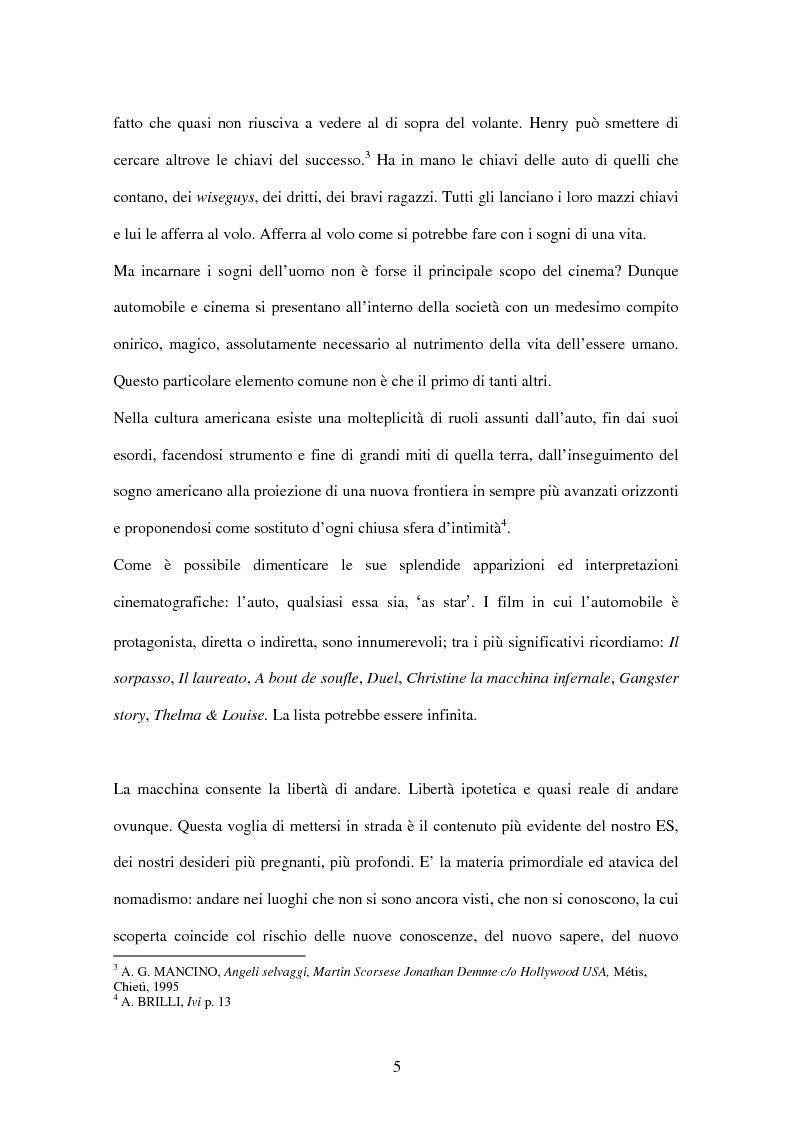 Anteprima della tesi: L'automobile nel cinema di Martin Scorsese, Pagina 5