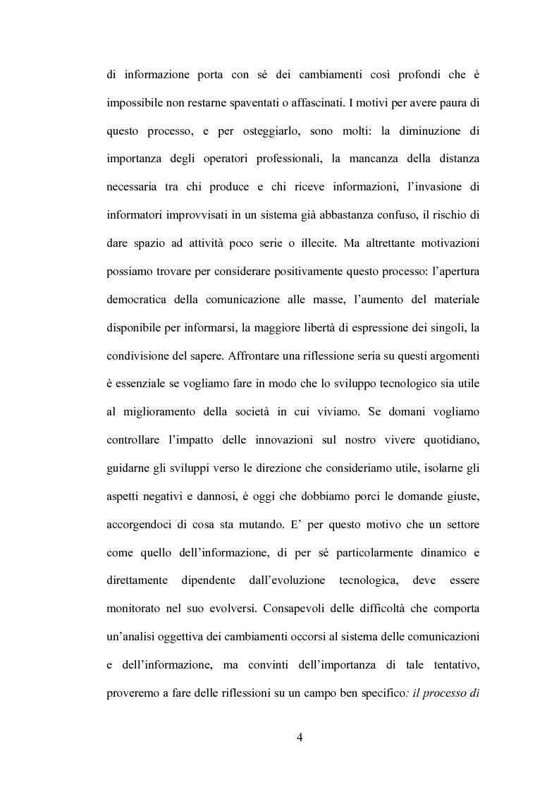 Anteprima della tesi: Blog: l'informazione al tempo dei personal media, Pagina 2