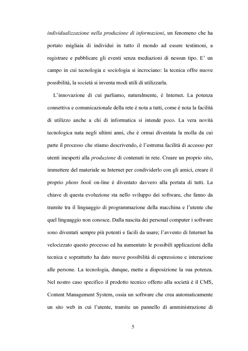 Anteprima della tesi: Blog: l'informazione al tempo dei personal media, Pagina 3