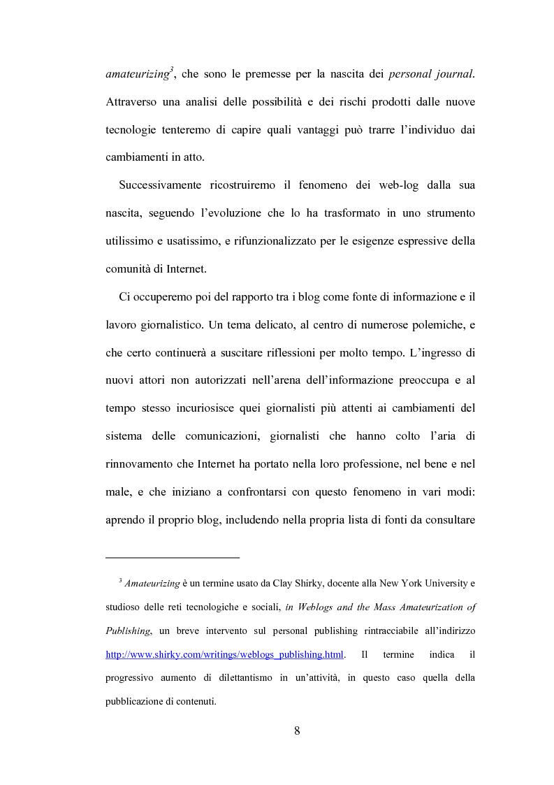 Anteprima della tesi: Blog: l'informazione al tempo dei personal media, Pagina 6