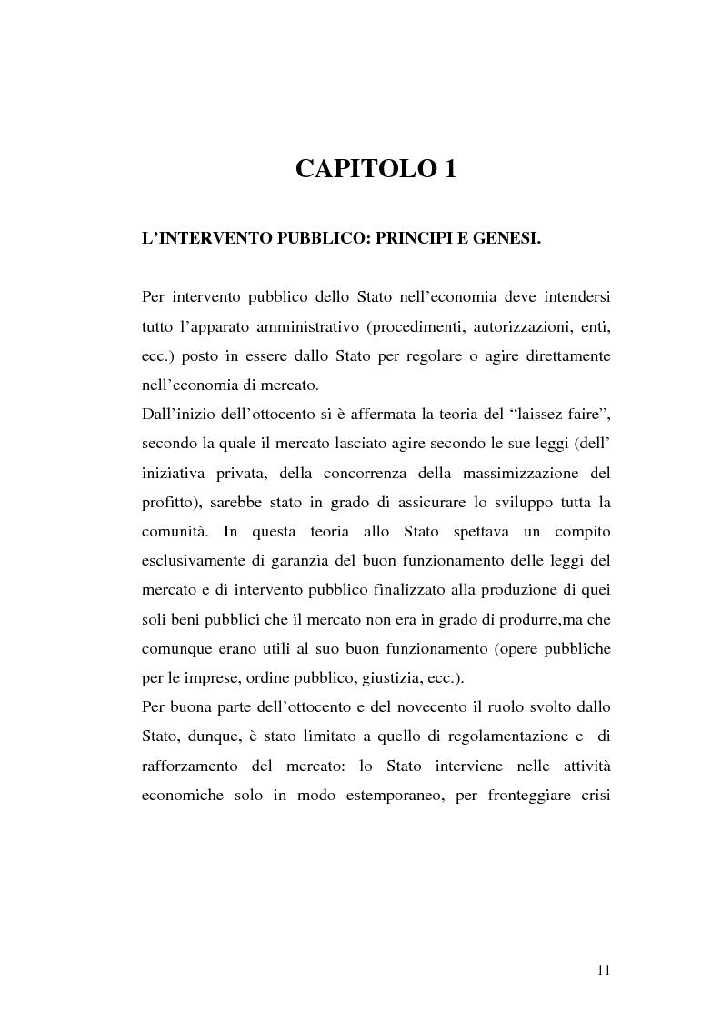 Anteprima della tesi: I procedimenti e gli istituti finalizzati allo sviluppo economico: i patti territoriali e i PIT, Pagina 11