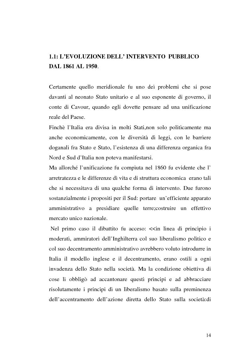 Anteprima della tesi: I procedimenti e gli istituti finalizzati allo sviluppo economico: i patti territoriali e i PIT, Pagina 14