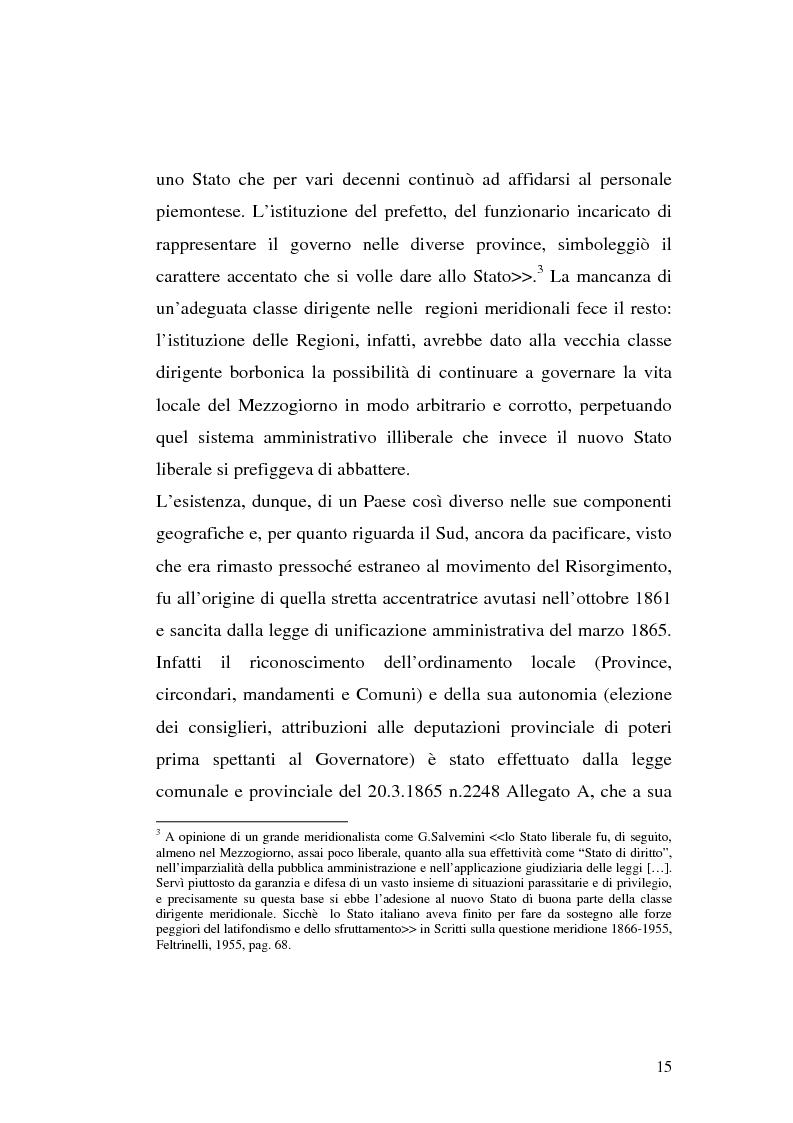 Anteprima della tesi: I procedimenti e gli istituti finalizzati allo sviluppo economico: i patti territoriali e i PIT, Pagina 15