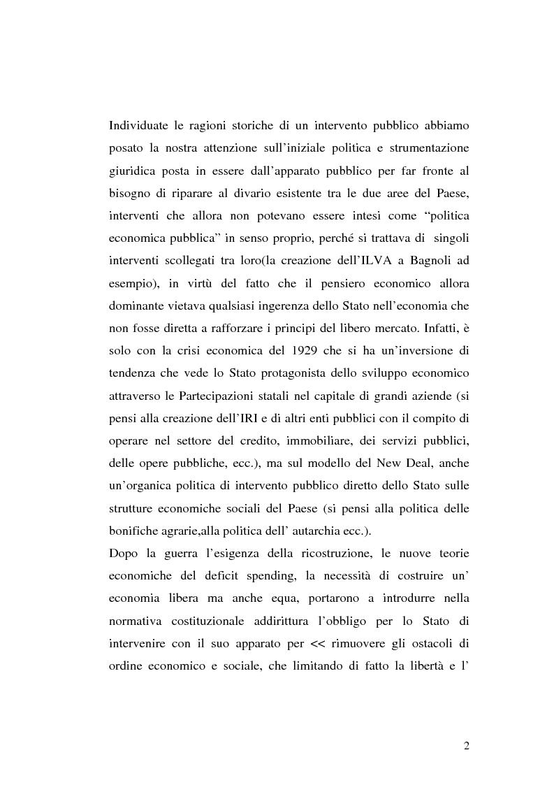 Anteprima della tesi: I procedimenti e gli istituti finalizzati allo sviluppo economico: i patti territoriali e i PIT, Pagina 2