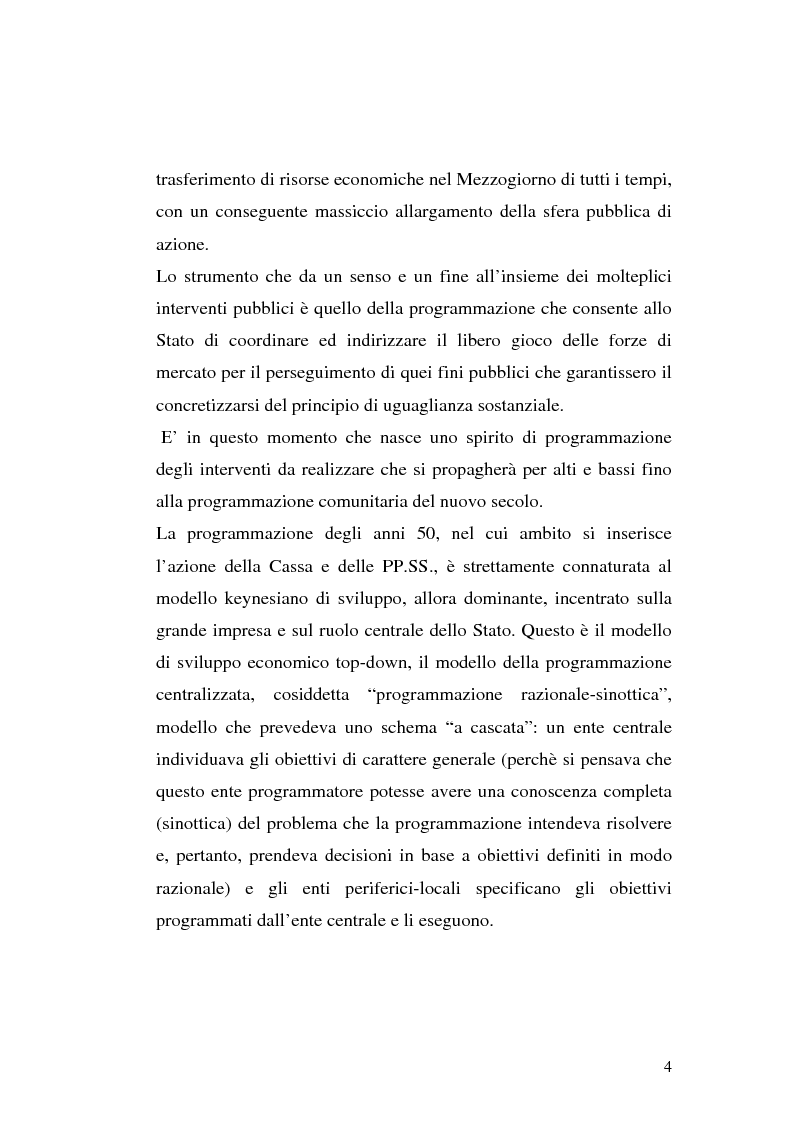 Anteprima della tesi: I procedimenti e gli istituti finalizzati allo sviluppo economico: i patti territoriali e i PIT, Pagina 4
