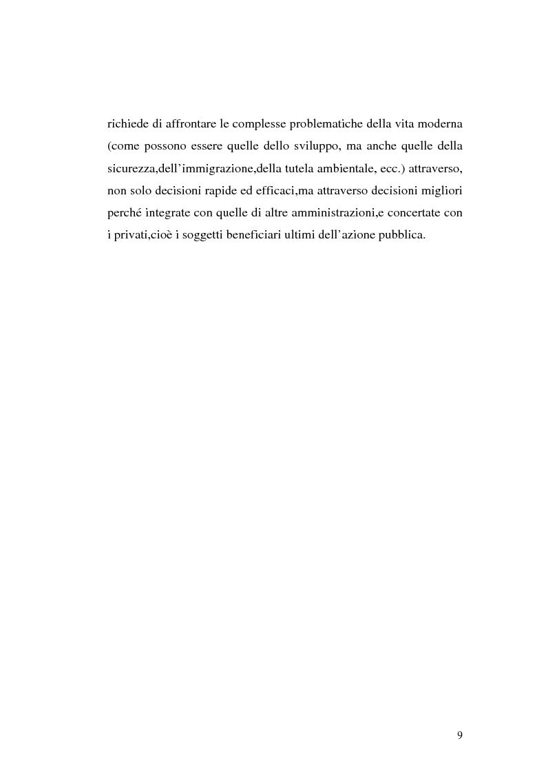 Anteprima della tesi: I procedimenti e gli istituti finalizzati allo sviluppo economico: i patti territoriali e i PIT, Pagina 9