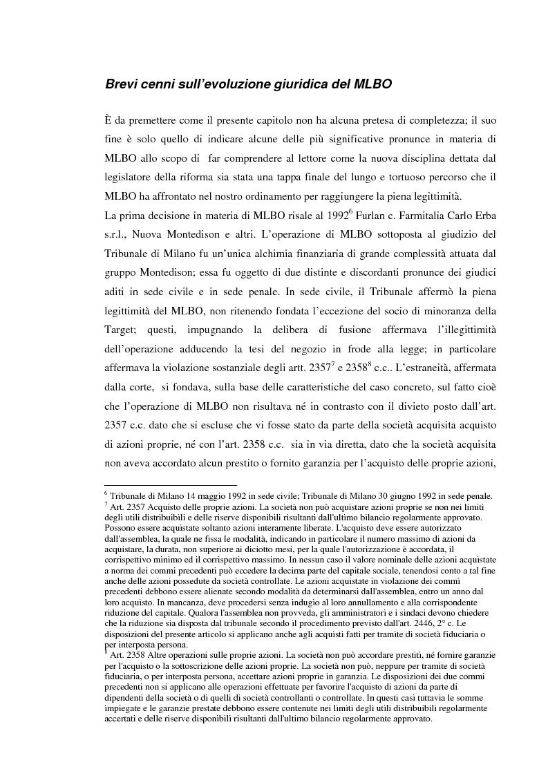 Anteprima della tesi: Le operazioni di ''merger leveraged buy-out'' nella prospettiva della banca finanziatrice, Pagina 3