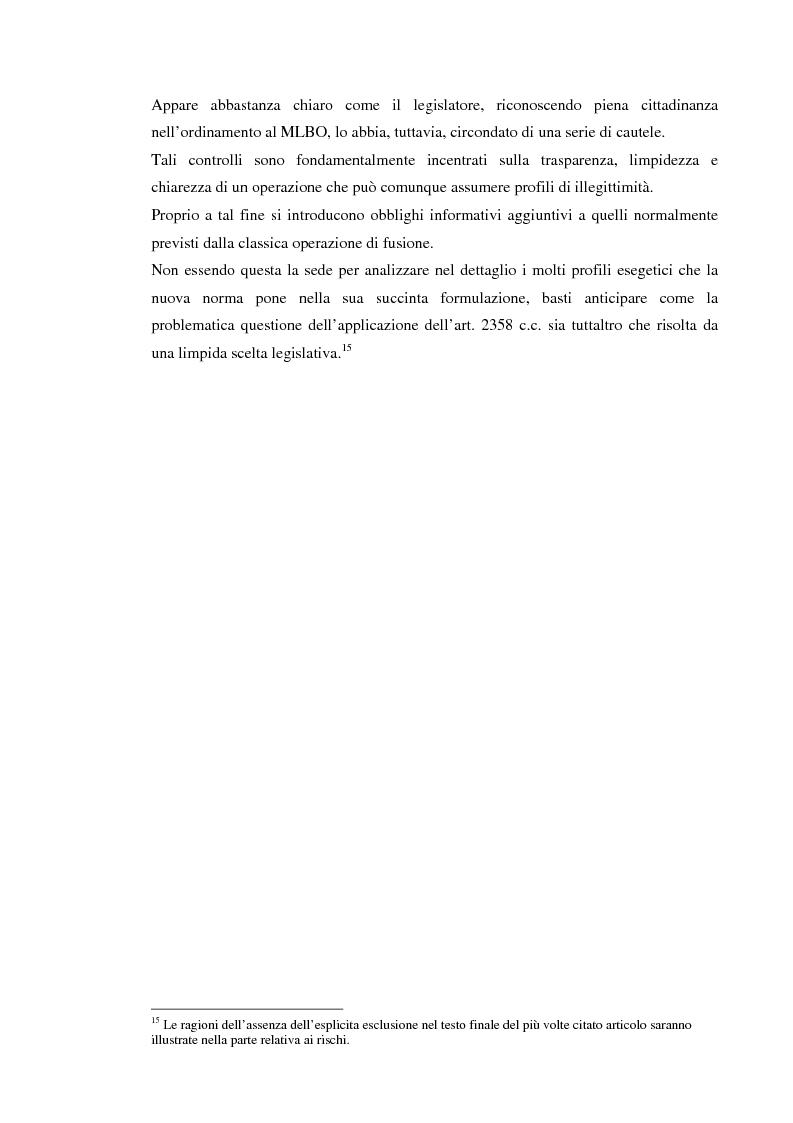 Anteprima della tesi: Le operazioni di ''merger leveraged buy-out'' nella prospettiva della banca finanziatrice, Pagina 6