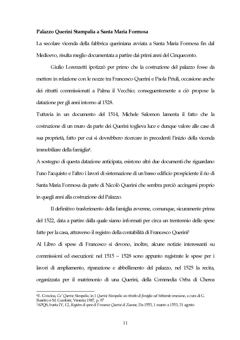 Anteprima della tesi: Il Museo Querini Stampalia da galleria patrizia a macchina della memoria. Appunti per una storia, 1869- 2004, Pagina 11